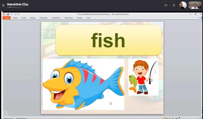 レッスンで使ったfishのカードの画像