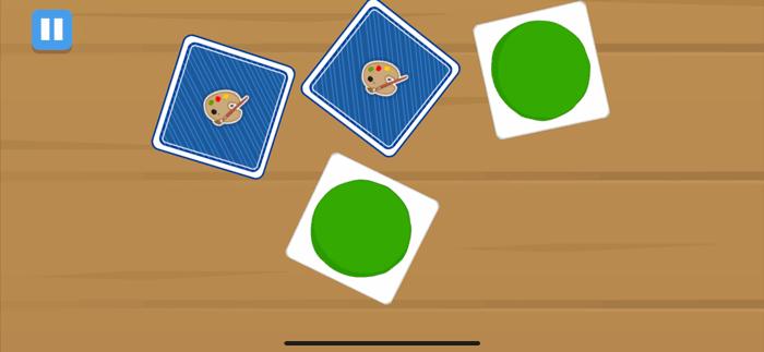 色の神経衰弱のゲーム