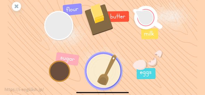 ケーキを作るゲームの説明
