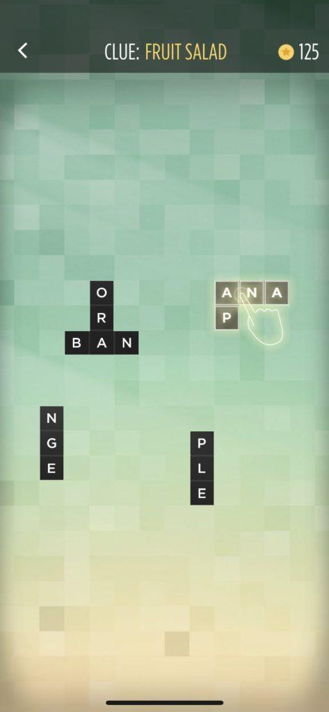 子供向けの英語単語アプリ「Bonza Word Puzzle」のゲーム画面