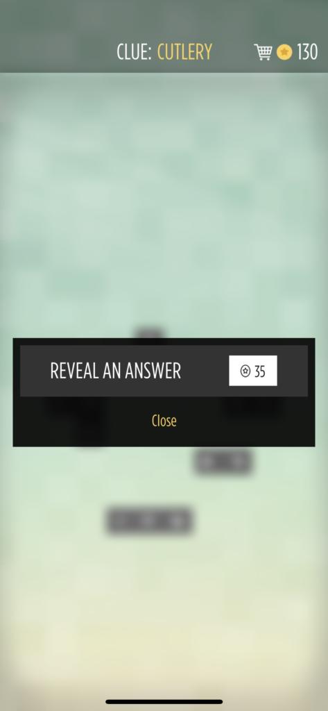子供向けの英語単語アプリ「Bonza Word Puzzle」のヒント画面
