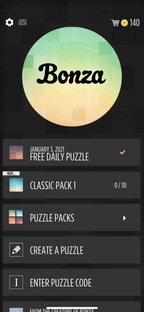 子供向けの英語単語アプリ「Bonza Word Puzzle」の世界中のプレーヤーが作ったゲームの紹介画面