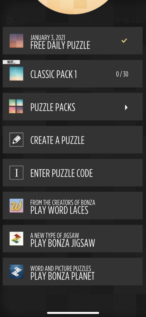 子供向けの英語単語アプリ「Bonza Word Puzzle」の自分でパズルを作る画面