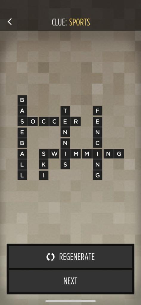 子供向けの英語単語アプリ「Bonza Word Puzzle」の単語入力画面