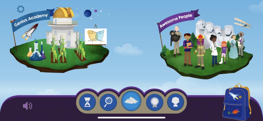 子供向けの英語多読アプリ「Skybrary」のジャンルの島の画像