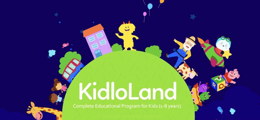 子供向け有料英語アプリのオススメ「KidloLand」の起動画面の画像