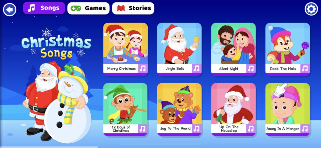 子供向け有料英語アプリのオススメ「KidloLand」のホーム画面の画像
