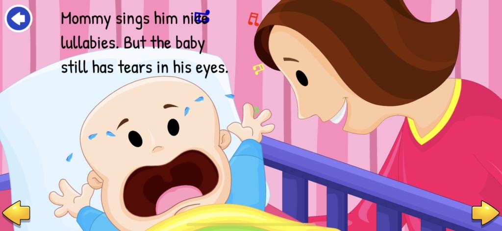 子供向け英語リーディングアプリ『KidloLand』のインタラクティブ絵本の画像